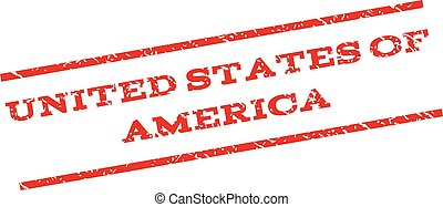 United States Of America Watermark Stamp