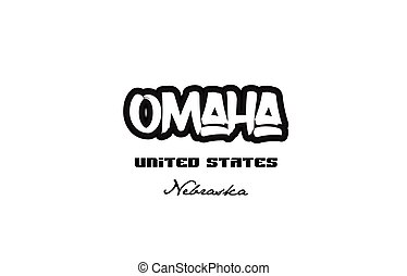 United States omaha nebraska city graffitti font typography...