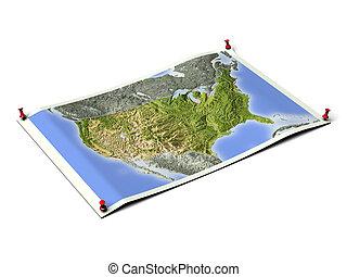 United States on unfolded map sheet. - United States on ...
