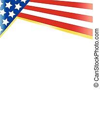 United States Patriotic frame