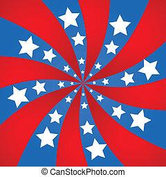 United States spiral background