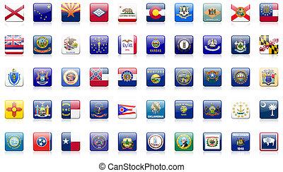 united states, stat, flag