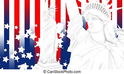 United States Statue Liberty design background.