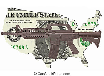 United States - The United States of America as a one-dollar...