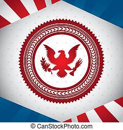 united states symbol, bald eagle. vector illustration