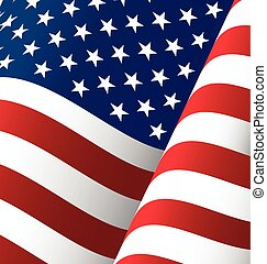 United States Waving Flag Background, Clipping Mask