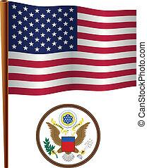 united states wavy flag
