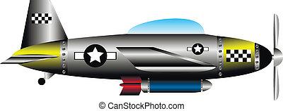 United states WW2 fighter on white - United states WW2...