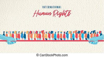 unito, diritti, persone, mese, umano, consapevolezza