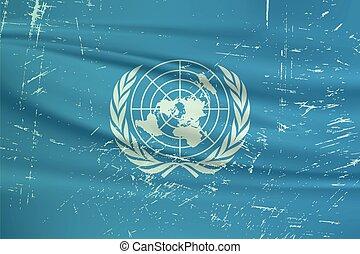 unito, flag., nazioni, grunge