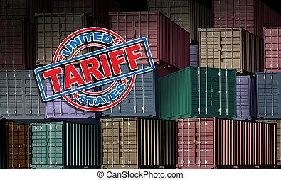 unito, tariffa, stati