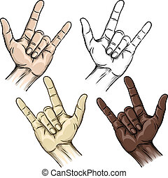 Unity and horns gesture