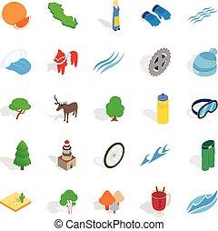 Unity icons set, isometric style