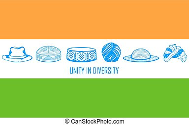 Unity in diversity of India