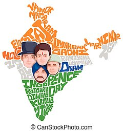 Unity in Diversity - vector illustration of Indian people of...
