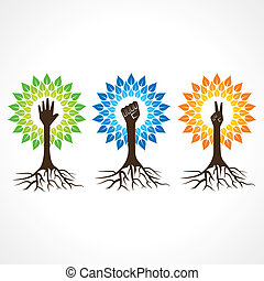 Unity, victory and helping hand tree - Unity, victory and ...