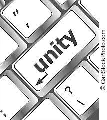unity word on computer keyboard pc key