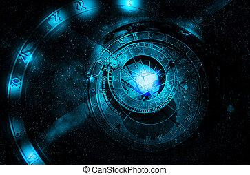 univers, concept, astrologie