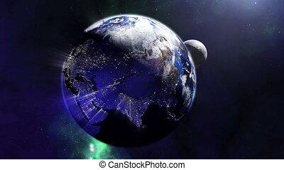 univers, magnifique, 4k, la terre, lumières