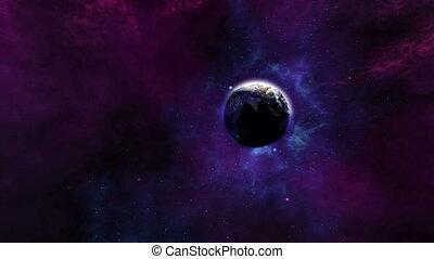 univers, magnifique, zoom, la terre, 4k