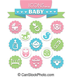 universal baby icons - collection of universal baby icons,...