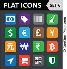 Universal Colorful Flat Icons. Set 6.