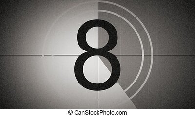 universal film leader counting down - universal film leader,...