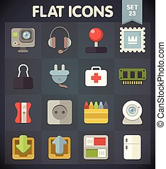 Universal Flat Icons Set 23 - Universal Flat Icons for Web...