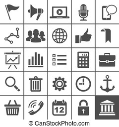 Universal Icon Set. 25 icons for website and app - Universal...