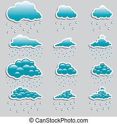 Universal icons clouds - Set