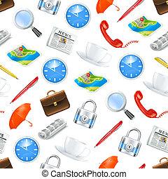 Universal icons, seamless pattern 10eps