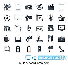Universal icons set  02