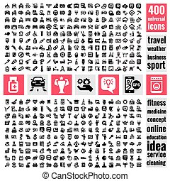 universal icons set - Set of 400 quality icon. Service icons...