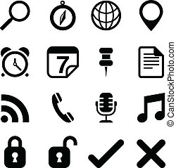 Universal Icons - Set of social media icons isolated on a...