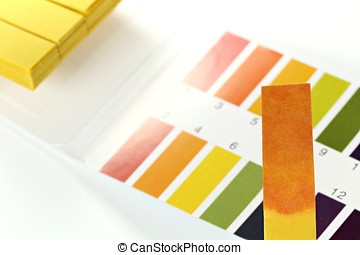universal indicator paper with acidic testing