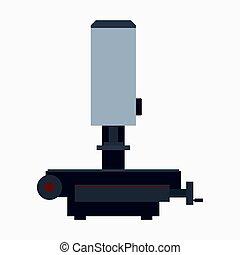 Universal measuring manual microscope, metrology instrument