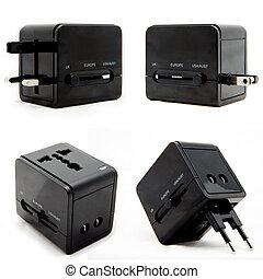 Universal Power Plug Adapter - Black universal power plug...