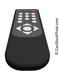 Universal remote control isolated on white background. High resolution 3D image.