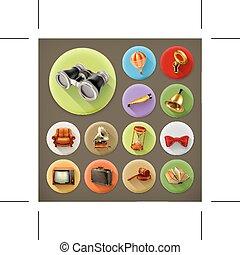 Universal retro icons