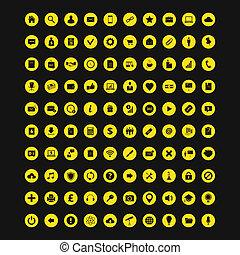 Universal Set of 100 Colorful Icons - Set of 100 Universal...