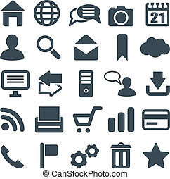 Universal set of icons for web and mobile. File in EPS10...