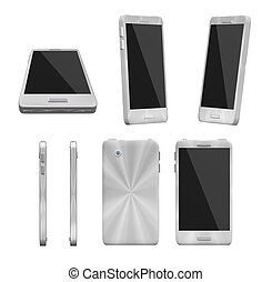 Universal smartphone various angles