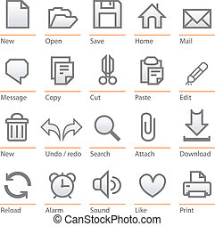 Big size minimalist icons for every day use