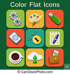 Universal Vector Color Flat Icons