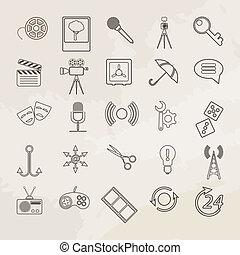 Universal vector icon set.