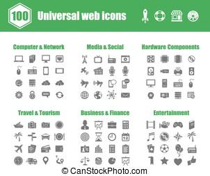 Universal web icons - 100 universal vector icons - Computer...