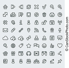 Universal Web Icons Outline Set - Set of 64 outline icons...