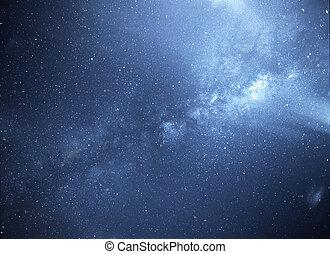 universal, weg, galaxie, milchig
