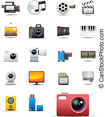 universale, media, icone