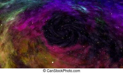 Universe, Beautiful Colorful Space Nebula, Stars and Galaxy